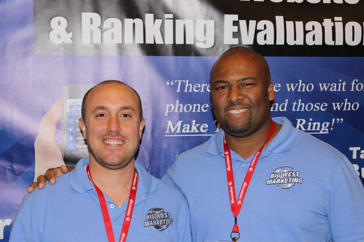 Deon Bush and I working the booth
