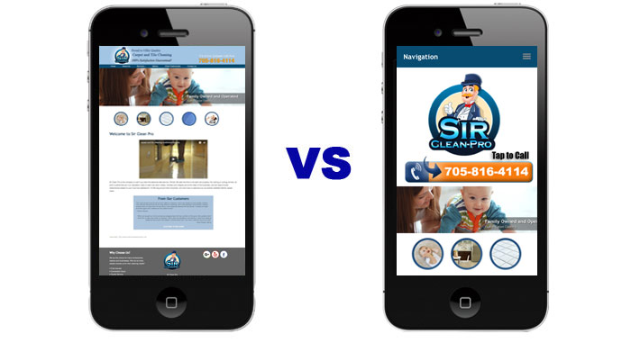 Mobile Responsive Carpet Cleaning Websites